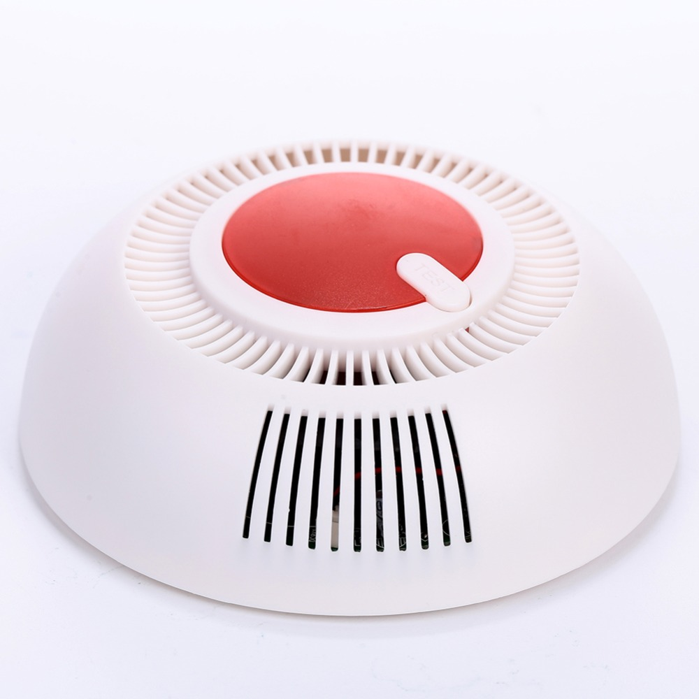 Home Security Smoke Sensor Protection Independent 85 DB Equipment Smoke Detector Sensor For Home Safety Security