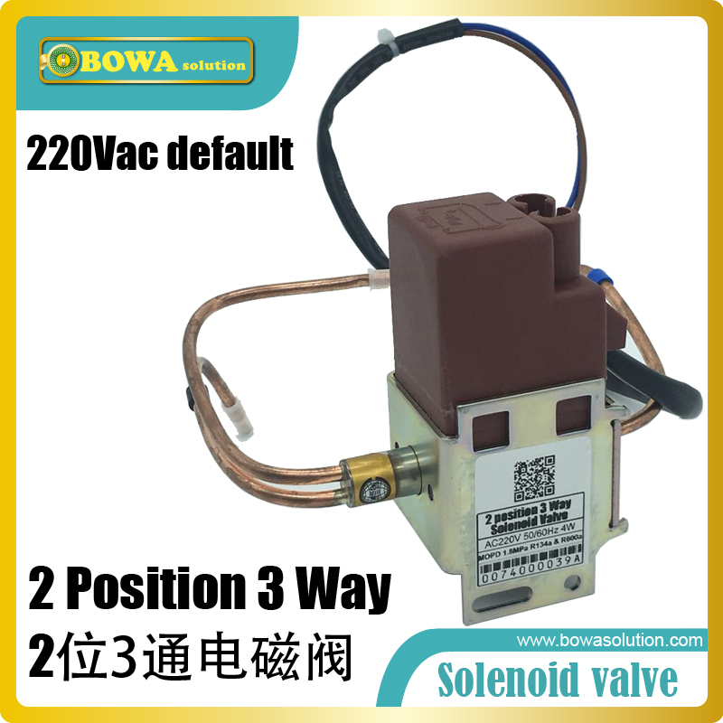 2-position 3-way Solenoid Valve in dual temperatures household refrigerators and freezers switch refrigerant flow direction