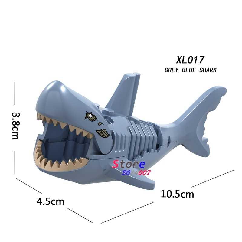 1 sztuk modelu klocki działania ea shark piraci z karaibów movie duch Zombie Shark diy zabawki dla dzieci prezent