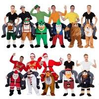 Novidade Calças Passeio em Me Levar de Volta Engraçado Trajes Da Mascote Animal Fancy Dress Up Oktoberfest Halloween Party Cosplay