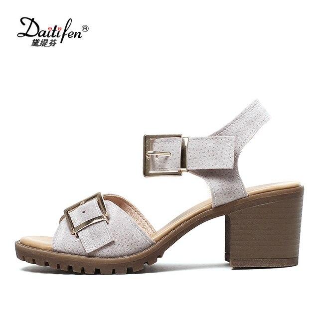 Haut Talons Sandales Sandalia Rome Talon Noir Platform Chaussures Buckle Sandal 2018 De Femme Mujer Femmes En D'été Bout Mental Daitifen pwUzqBC
