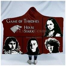 Plstar Cosmos Game of Thrones Blanket  Hooded 3D full print Wearable Adult men women style10