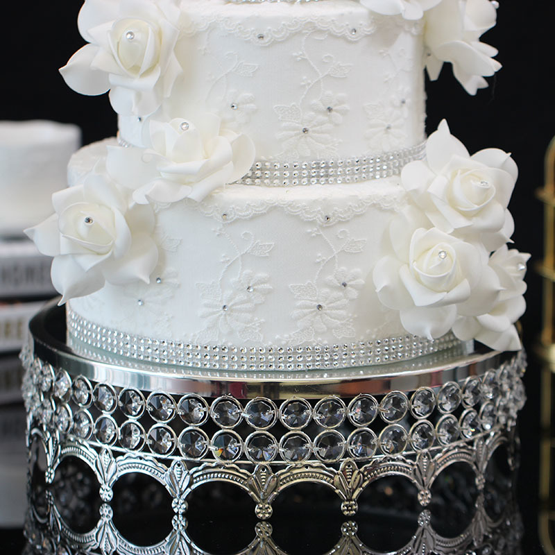 Crystal Cake Disk Mirror Noodles Glass Fashion The Wedding Dessert Platform Baking Paper Cup Cake Fruits Tray