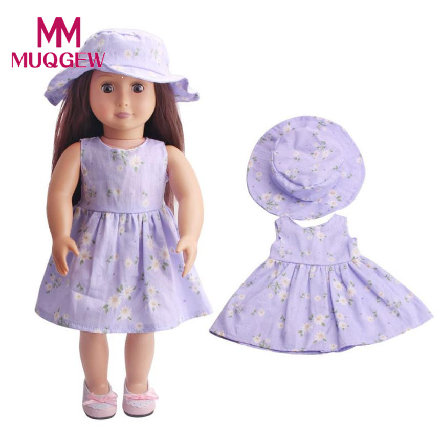 High-Quality Skirt&Hat For 18 inch Our Generation American Girl Doll baby born doll accessories 2018 american girl doll clothes american girl doll clothes superman and spider man cosplay costume doll clothes for 18 inch dolls baby doll accessories d 3