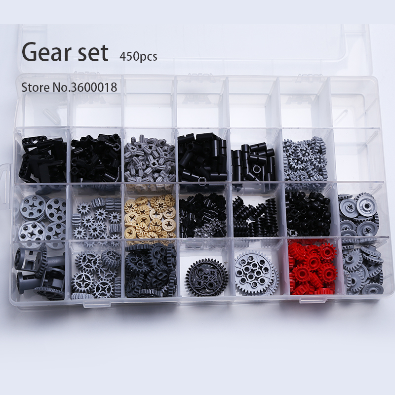 450pcs/set Decool Technic Parts Bulk MOC Car Accessory Gear Accessory Pin Connector Bricks Building Block Compatible Legos 62821
