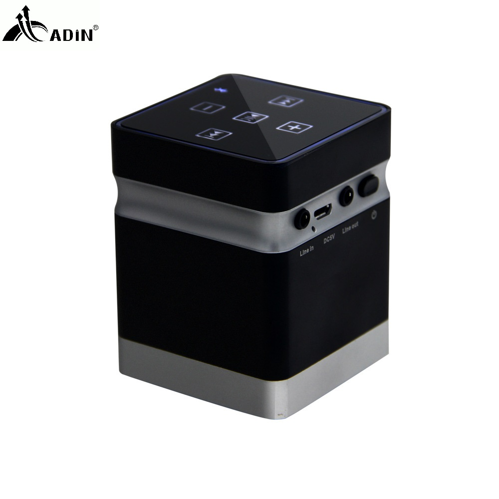 ADIN 26W Wireless Vibration Speakers Metal Bluetooth Handsfree AUX Hifi Speaker For Phones Computers MP3 MP4 Game Console