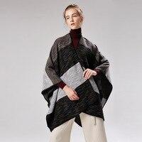 AZUE Women's Autumn Winter Poncho Ethnic Scarf Fashion Print Blanket Scarves Lady Knitted Blanket Shawl Thicken Pashmina