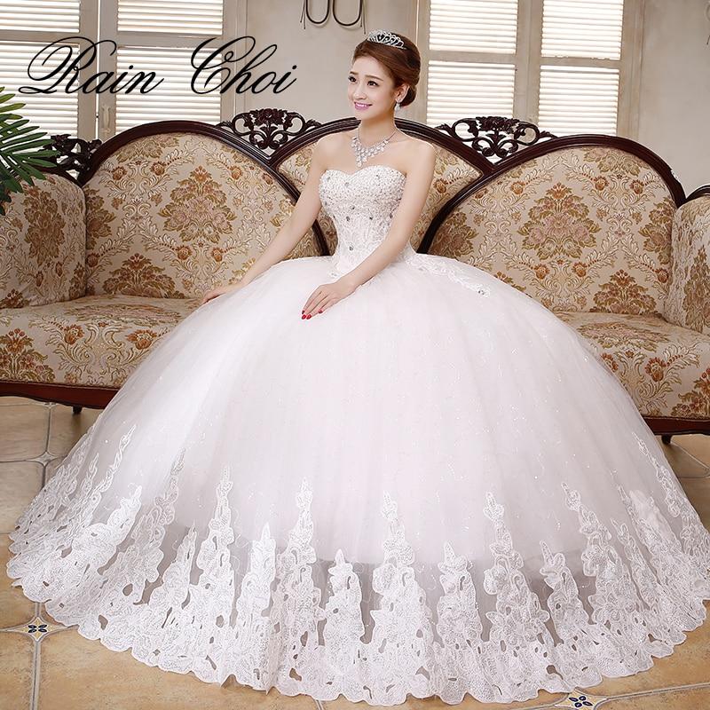 Vestido De Noiva Blonde Elegant Ball Kjoler Sweetheart Appliqued Brude Bryllupskjole 2019