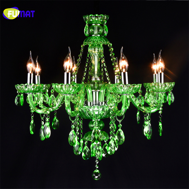 Fumat crystal candle chandelier led green crystal suspension lamp fumat crystal candle chandelier led green crystal suspension lamp cafe bar restaurant hall diffuse light fixtures aloadofball Choice Image