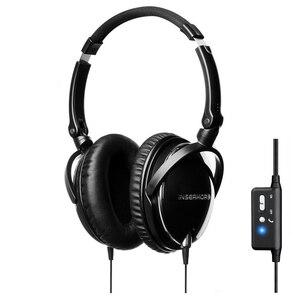 Casque anti-bruit actif casque haute Performance Super basse HIFI stéréo compagnie aérienne casque d'aviation avec microphone