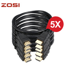 ZOSI 5pcs 1.5M High speed Gold Plated Plug Male-Male HDMI Cable 1.4 Version HD 1080P 3D for HDTV XBOX PS3 Computer Cable