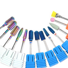 13 Tpyes Metal Rotary Burr Nail Drill Bit Cuticle Cutter Manicure Nail Files Electric Milling Grinder Machine Accessory Tools