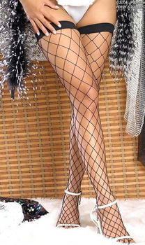 MOONIGHT New  women's Sexy stockings Fence Net Thigh High fishnet stockings Stockings