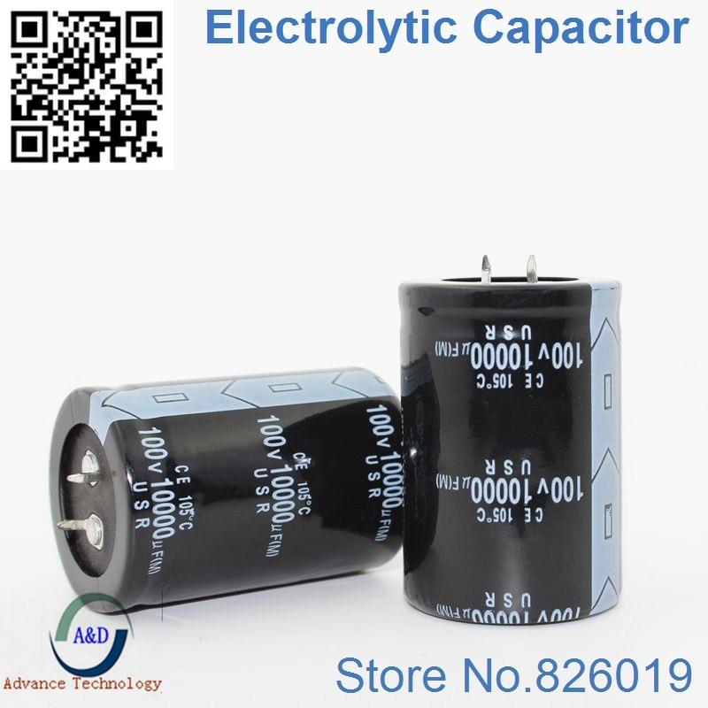 3pcs/lot 50V 63V 80V 100V 10000UF Radial DIP Aluminum Electrolytic Capacitors Size 450v 1000uf 100v 4700UF 20% 50v10000uf