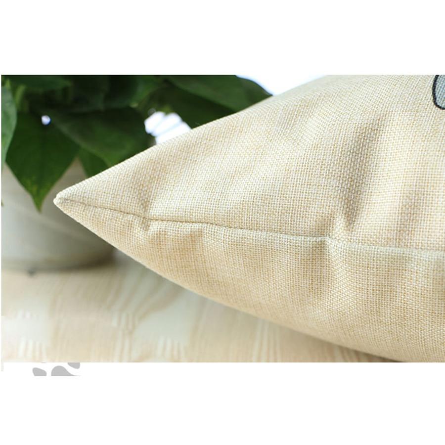 Dibujos Animados amor pareja patrón impreso almohada de lino de ...