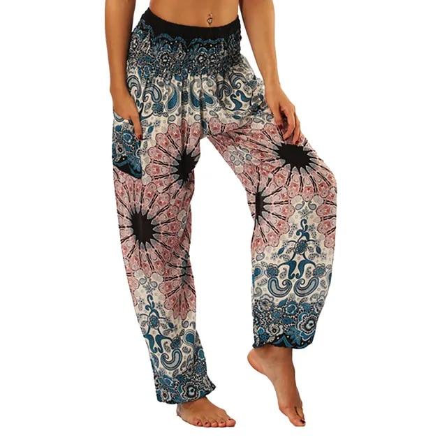 women pants Men Women Thai Harem Trousers Boho Festival Hippy Smock High Waist Pants pantalon femme dropshipping