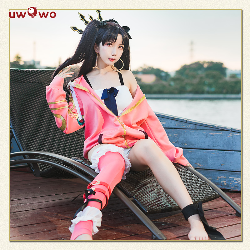 UWOWO Game Anime Fate/Grand Order Ishtar Cosplay Costume Coat Hoodies Women Swimsuit Costume Christmas Carnival Cosplay