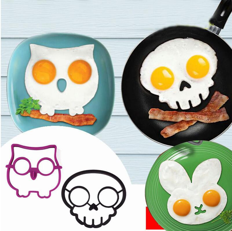 Creative Cartoon Rabbit Owl Skull Egg Mold Silicone Pancakes Omelette Device Egg Tool Kitchen DIY Creative Fried Egg Mold GN image