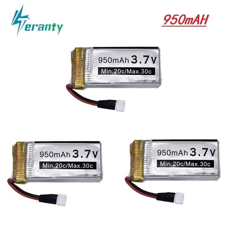 3.7v 950mah バッテリ syma の X5 X5c X5c-1 X5s X5sw X5sc V931 H5c RC Quadcopter 用スペアパーツ x5c X5sw 3.7v Drone バッテリー 3 個