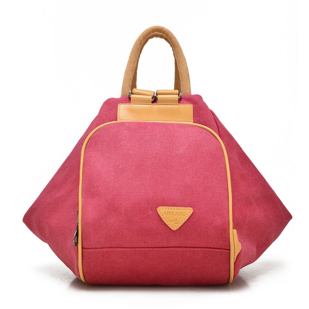 NEW Fashion canvas cross body bags women casual bag Muli functional backpack 6001