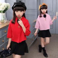 Spring Autumn Girl Clothes 10 11 13 9 7 Years Girls Clothing Set bat sweater + Skirt 2pcs Girl Suit Cotton Casual Girls Outfits