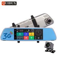 QUIDUX 7 Inch 3G Car Rearview Mirror Camera HD 1080P Night Vision DVR GPS Navigation Android