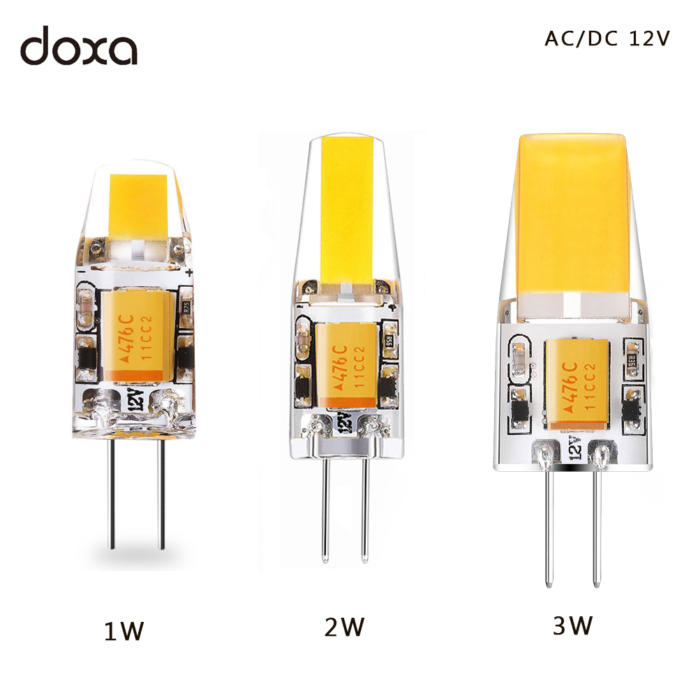 1W 2W 3W G4 LED COB Bulb 12V AC DC LED G4 Light bulbs Lamp 360 Beam Angle Replace 10W 20W 30W Halogen for Chandelier Spotlight 10pcs led g4 lamp 220v g4 led bulb light ac dc 12v 10w 6w smd 2835 3014 spotlight 360 beam angle replace for crystal chandelier