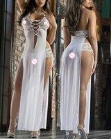 Sexy Babydoll Lingerie Underwear BODYSTOCKING Bikini Translucent Jumpsuit Seksi Temptation Adult Black S L