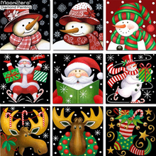 2018 Sale Cartoon Europe 5D Diy Diamond Painting Cross Stitch Embroidery New Style Christmas Deer And Snowman Mosaic Kids Gift