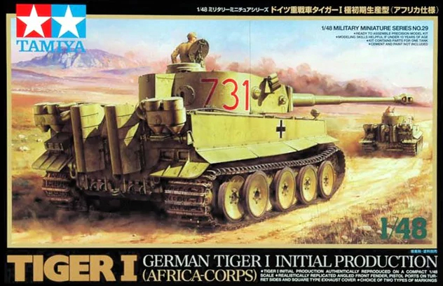 1/48 World War II German Tiger I Tank Very Early Model 32529 trumpeter assembled tank model 00910 world war ii german tiger tanks 2 in 1