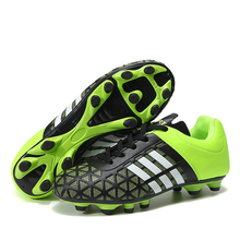 купить Lion Scream Football Shoes Adult Kids Soccer Cleats Turf TF Hard Court Sneakers Soccer Cleats Training Football Sneaker 33-43 дешево