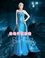 Free shipping New Arrival Custom Made High Quality snow queen Princess elsa  Dress Cosplay Costume for adult d-008
