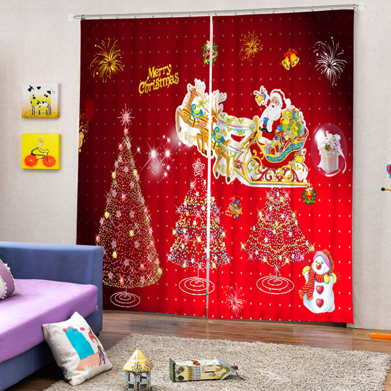 3D Christmas Curtains For Living Room Blackout Curtains Window Treatments  3D Kids Room Curtains Window Curtains 0002 In Curtains From Home U0026 Garden  On ... Part 76