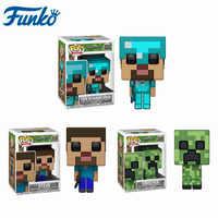 Funko Pop juego de Anime Minecraft-CREEPER STEVE #322 STEVE en armadura de diamante figura de acción modelo de juguetes colección regalos para niños