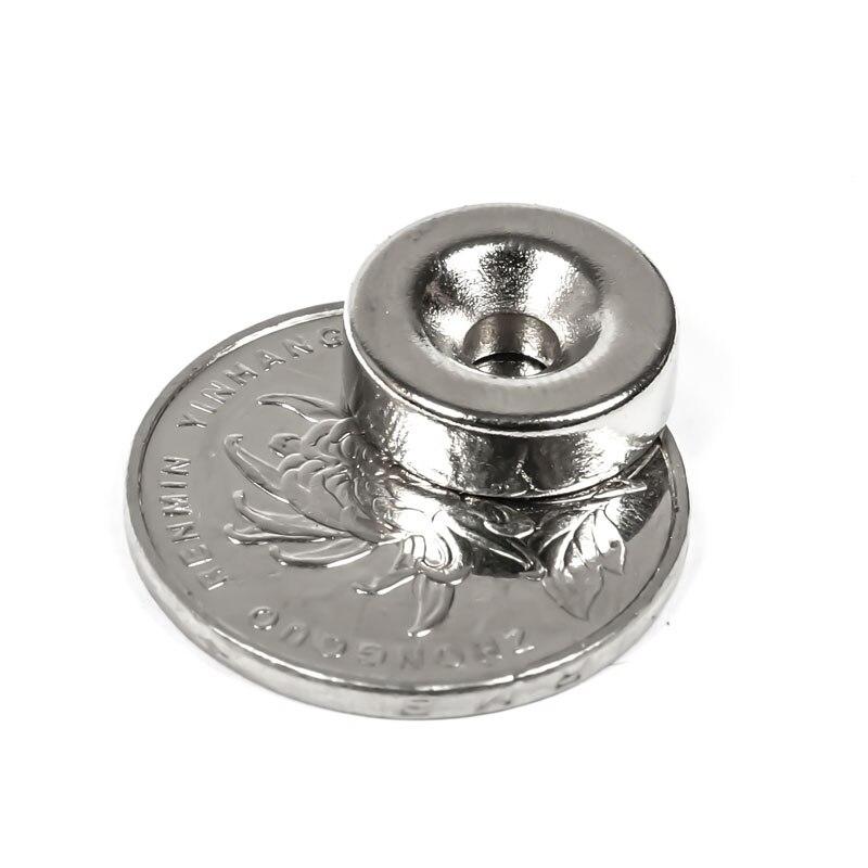 4mm Super Starke Ring Handwerk Magnet Permanet U-JOVAN 10 stücke 15x5mm Loch