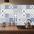 20 PCS Simulation Tile Simple Europe Style Home Paste Wall Stickers DIY Waterproof Oil-proof Tile For Bathroom Kitchen Stick