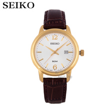 купить Seiko Watches Quartz Silver Dial Stainless Steel Case With Brown Leather Strap Women Watch SXDE01P2 дешево
