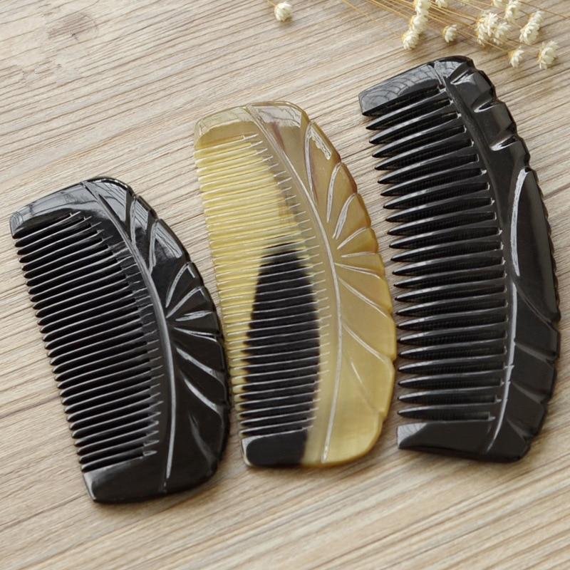 Купить с кэшбэком 1PC Horn Comb full-horn Horn Comb Portable Bag Massage Hair Comb multi-size G0425