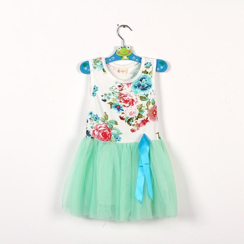 2017 Children's Clothing Baby Girls Summer Dress Wedding Sleeveless Party Princess Dresses Kids Tutu Dress Vestidos De Menina