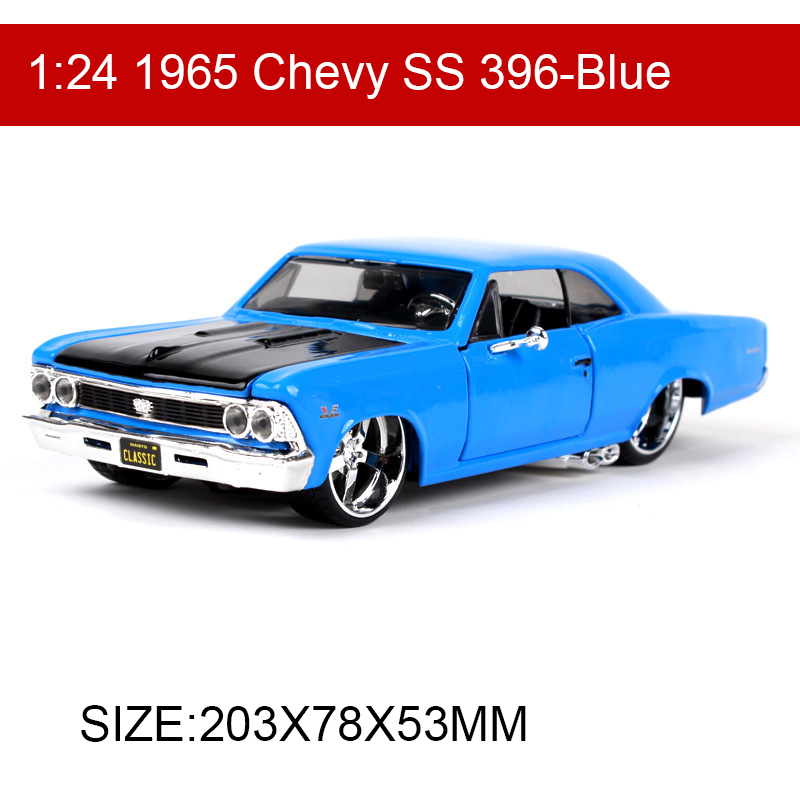 Maisto 1:24 1965 Chevy SS 396 Diecast Model Car Metal Racing Car Kids Toys Car simulation model For Gift Collection
