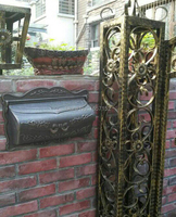 Bronze Cast Iron Mailbox Fashion Vintage Bucket Tin Newspaper Box Post Letter Box Aluminium Garden Decorative