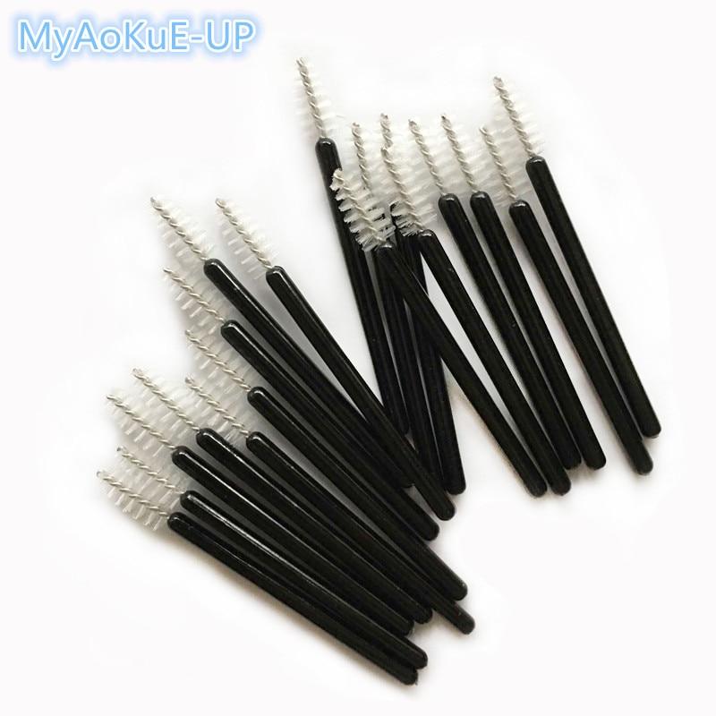 Mini Disposable Eyelash Brushes Black Handle White Brush 200pcs Eyelash Extension Tools One-off Lash Brush Mascara Wands
