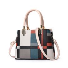 2019 Spring New Casual Fashion Famous Brand PU Leather Crossbody Handbags Plaid For Women Totes Bags