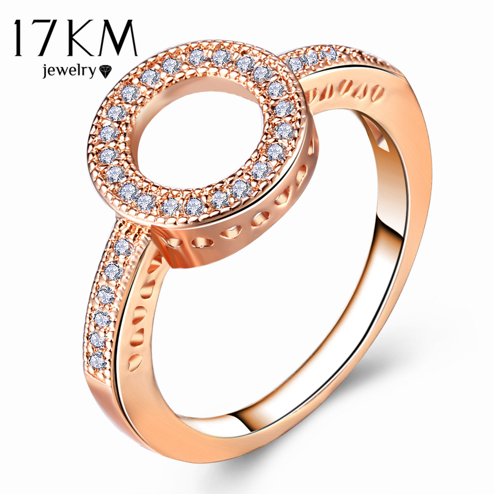 17KM Fashion Female Round Finger Rings For Women