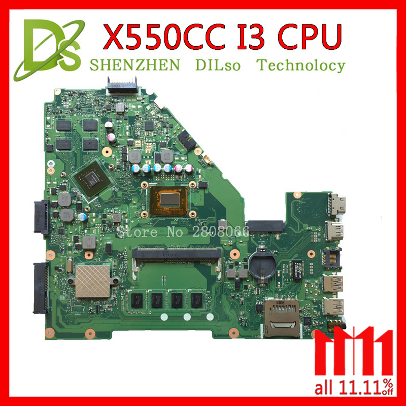 KEFU X550CC motherboard for ASUS X550CC X550CL X552C Laptop motherboard Y581C mainboard REV2.0 i3 Test original motherboard