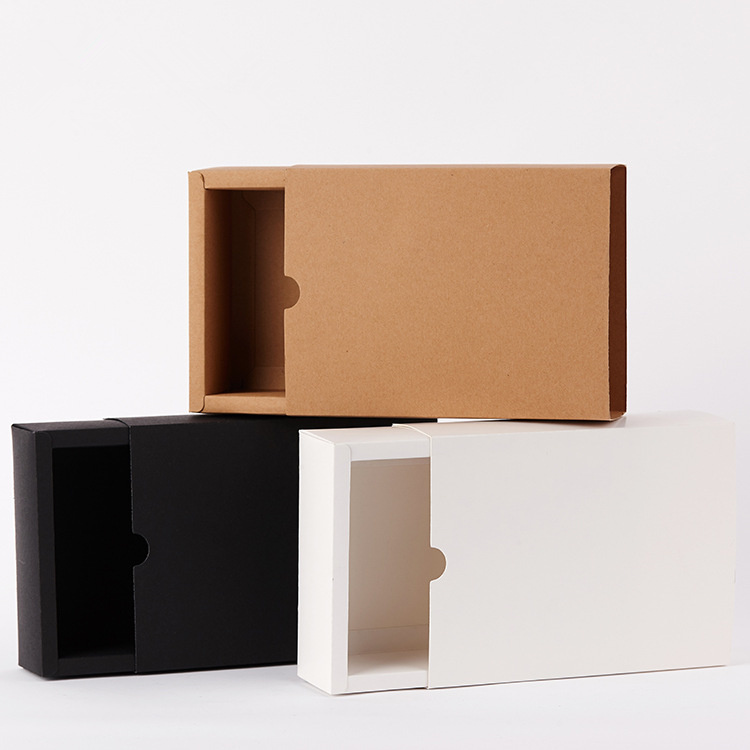 new black craft white cardboard kraft drawer paper <font><b>boxes</b></font> <font><b>big</b></font> nougat <font><b>packaging</b></font> for wedding party <font><b>gift</b></font> image