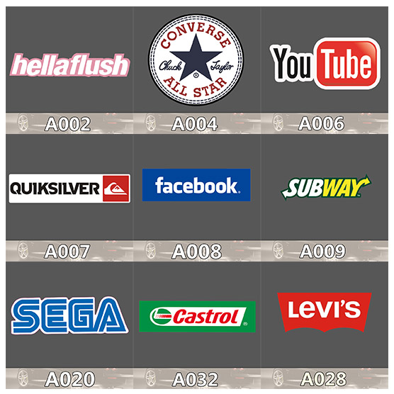 Subway Youtube Famous Brand Waterproof Label Stickers