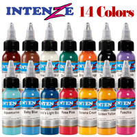 New High Quality Tattoo Inks 14 Colors 30ml Bottle Tatto Pigment Inks Set For Body Tattoo