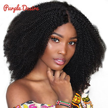Afro Kinky Curly Hair 3 Bundles Brazilian Curly Hair 100% Remy Human Hair Bundles Extensions 8-30inch Natural Double Weft Weave(China)