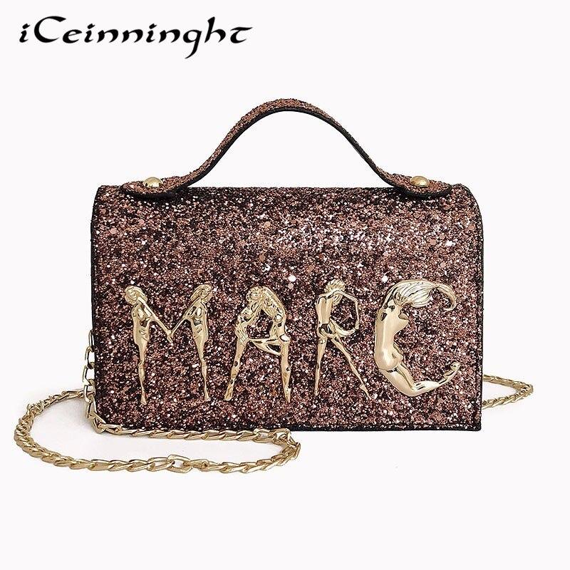2018 célèbre marque femmes en cuir sacs à main Designer femmes sac soirée en cuir Messenger sacs de luxe chaîne sac à bandoulière fourre-tout